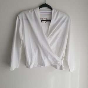 Anthropologie Maeve Wrap Top Size M